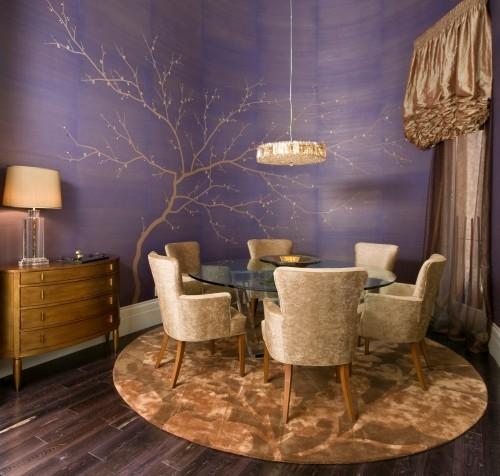 Purple Dining Area
