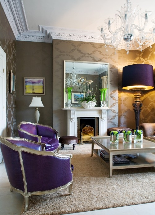 Purple Sitting Room