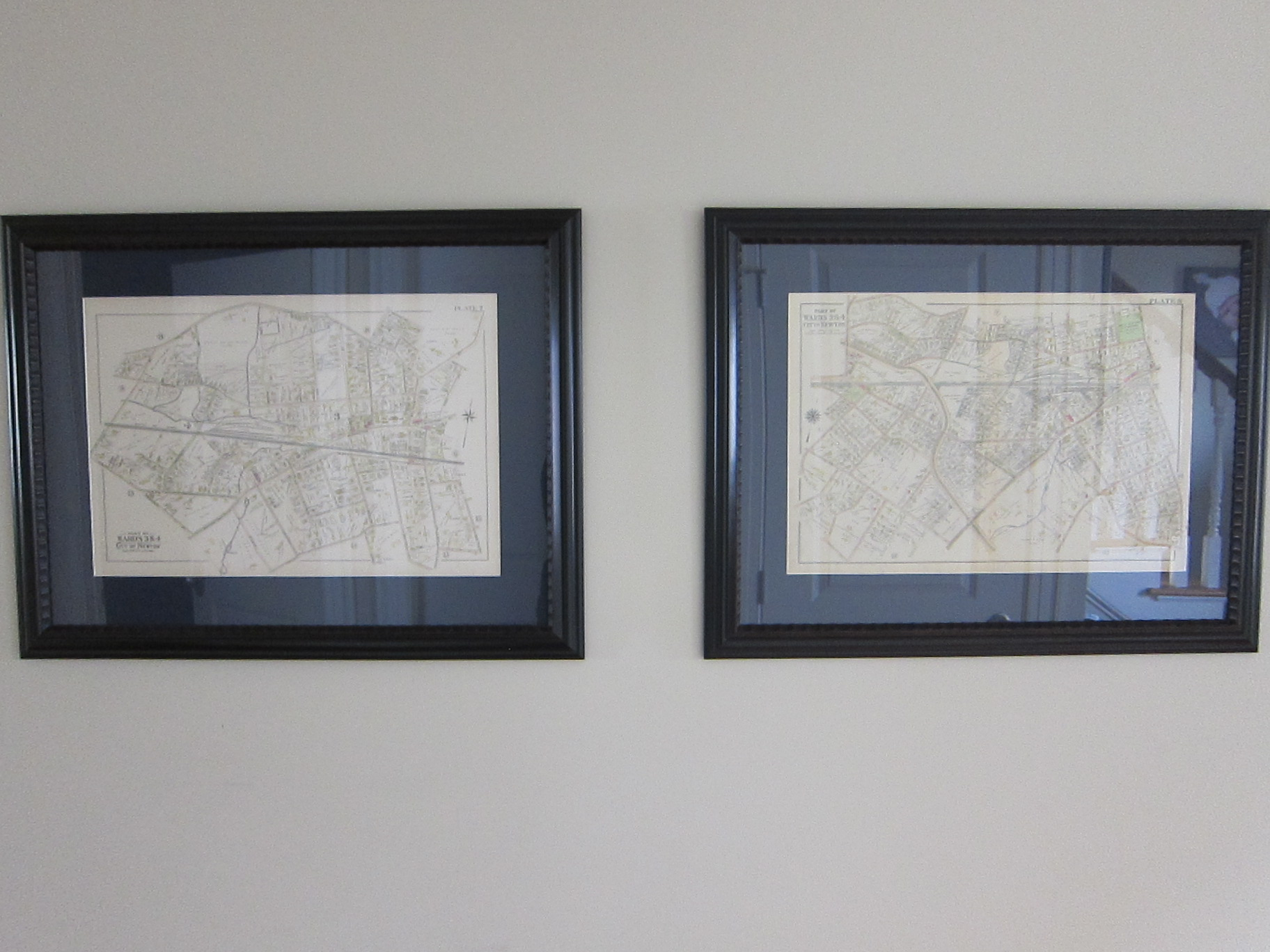 Framed Antique Maps of Auburndale, MA