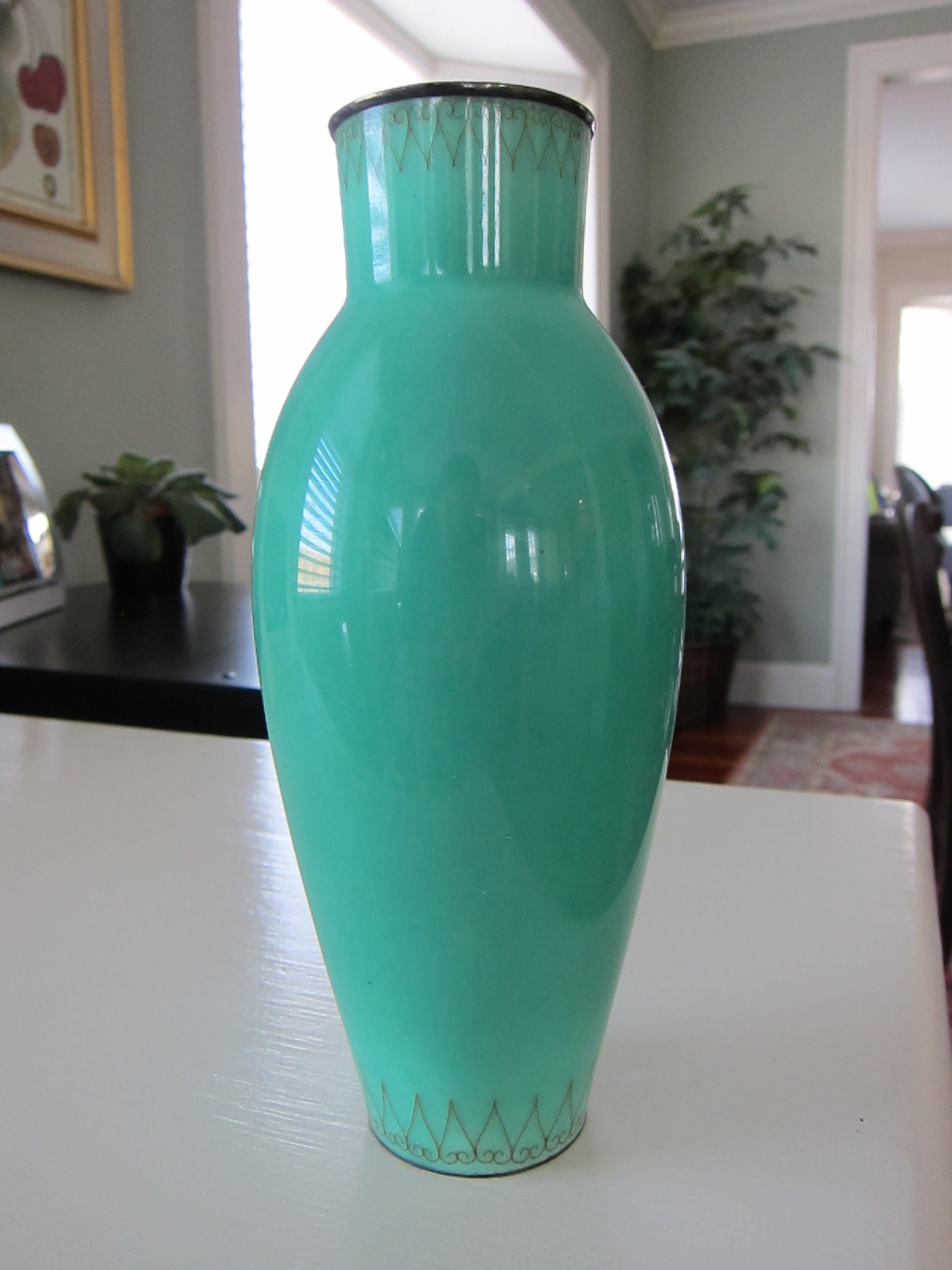 Green Ceramic Vase - Full View