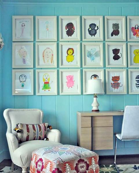 Kids Art White Frame Gallery