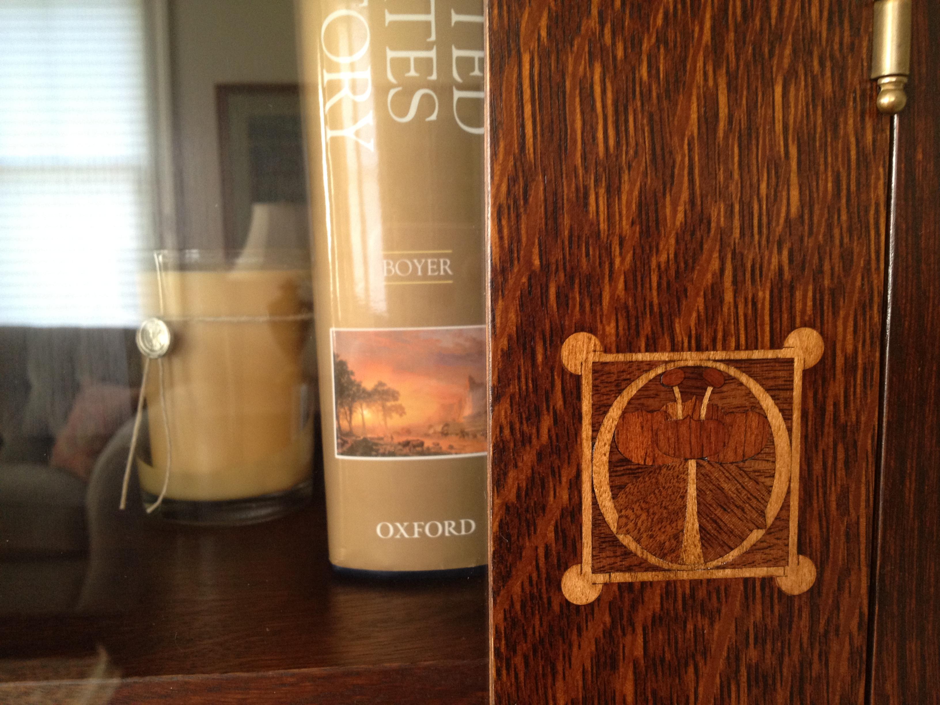 Harvey Ellis motif - Stickley bookcase