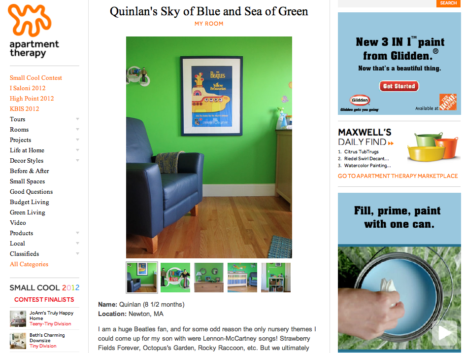 Quinlan's Sky of Blue and Sea of Green