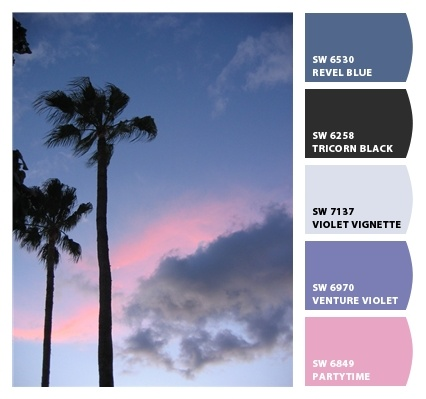 Maui sunset color palette