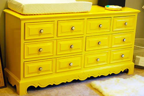 Dresser as Changing Table
