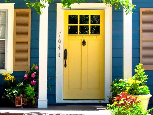 Yellow Front Door HGTV