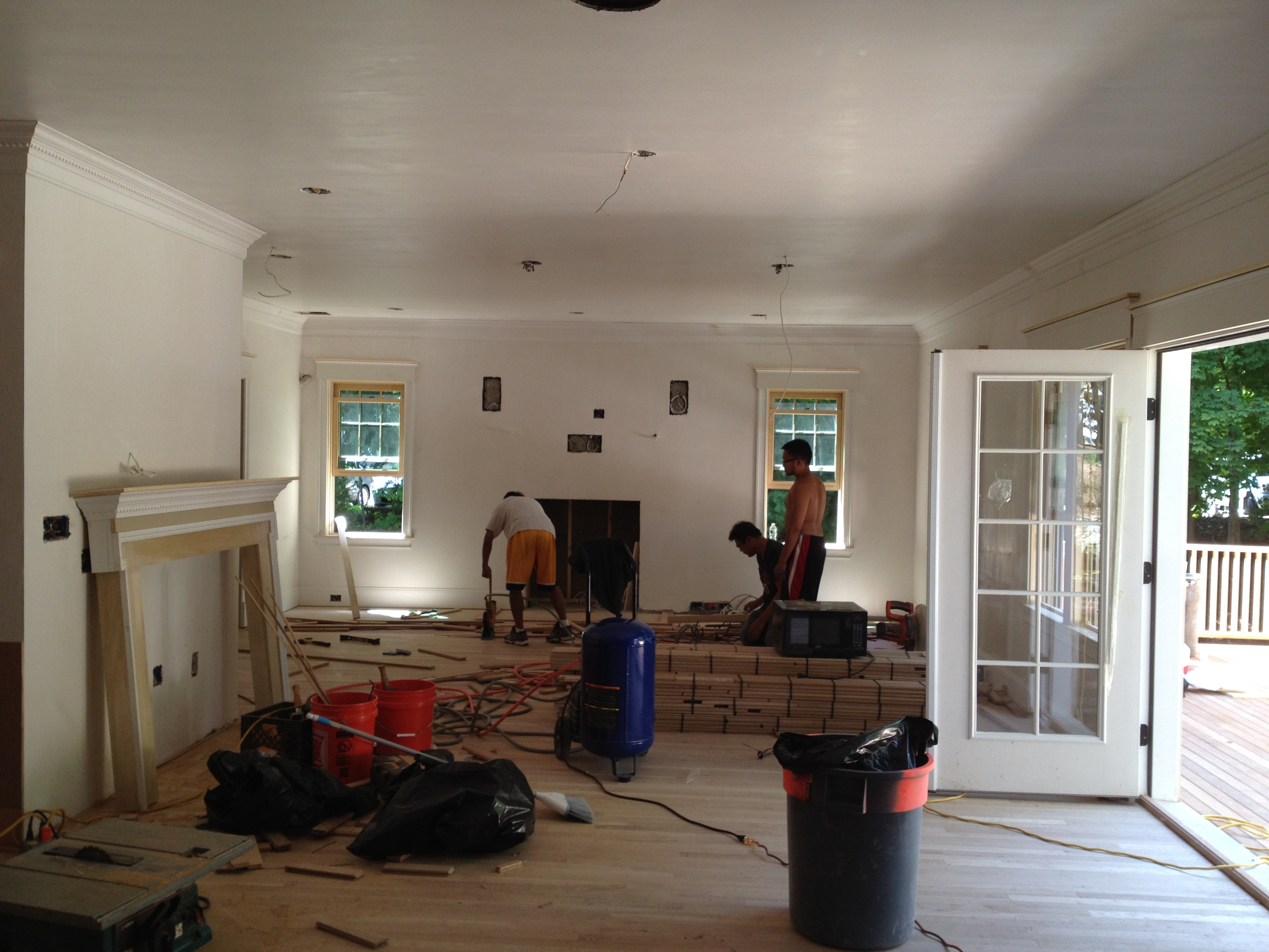 View from Kitchen to Family Room