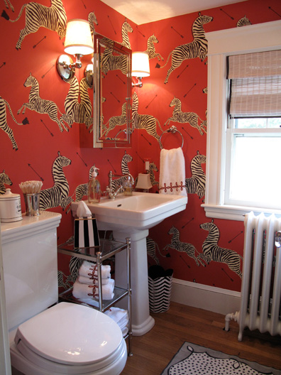 Scalamandre Wallpaper - Powder Room by Liz Caan
