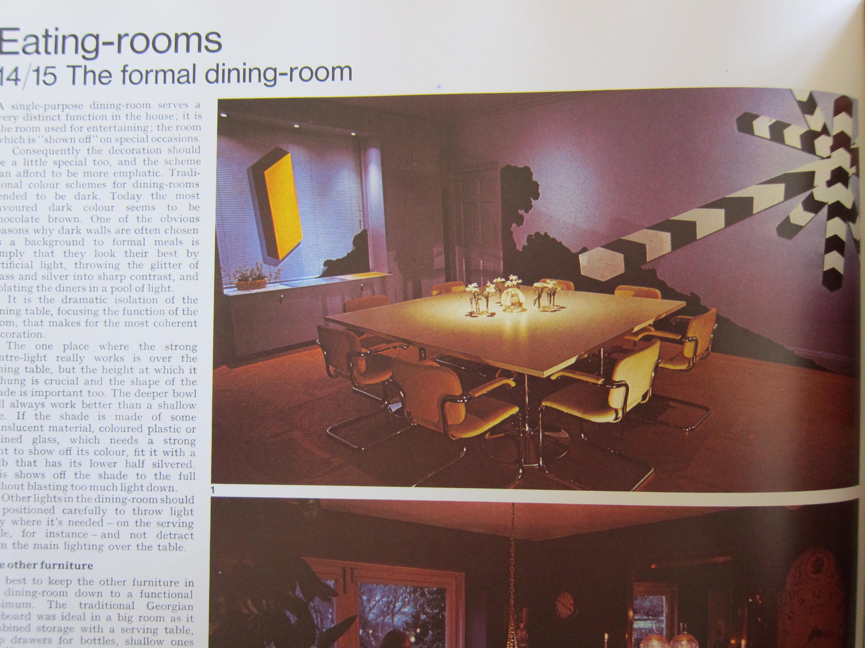 1970s Formal Dining Room