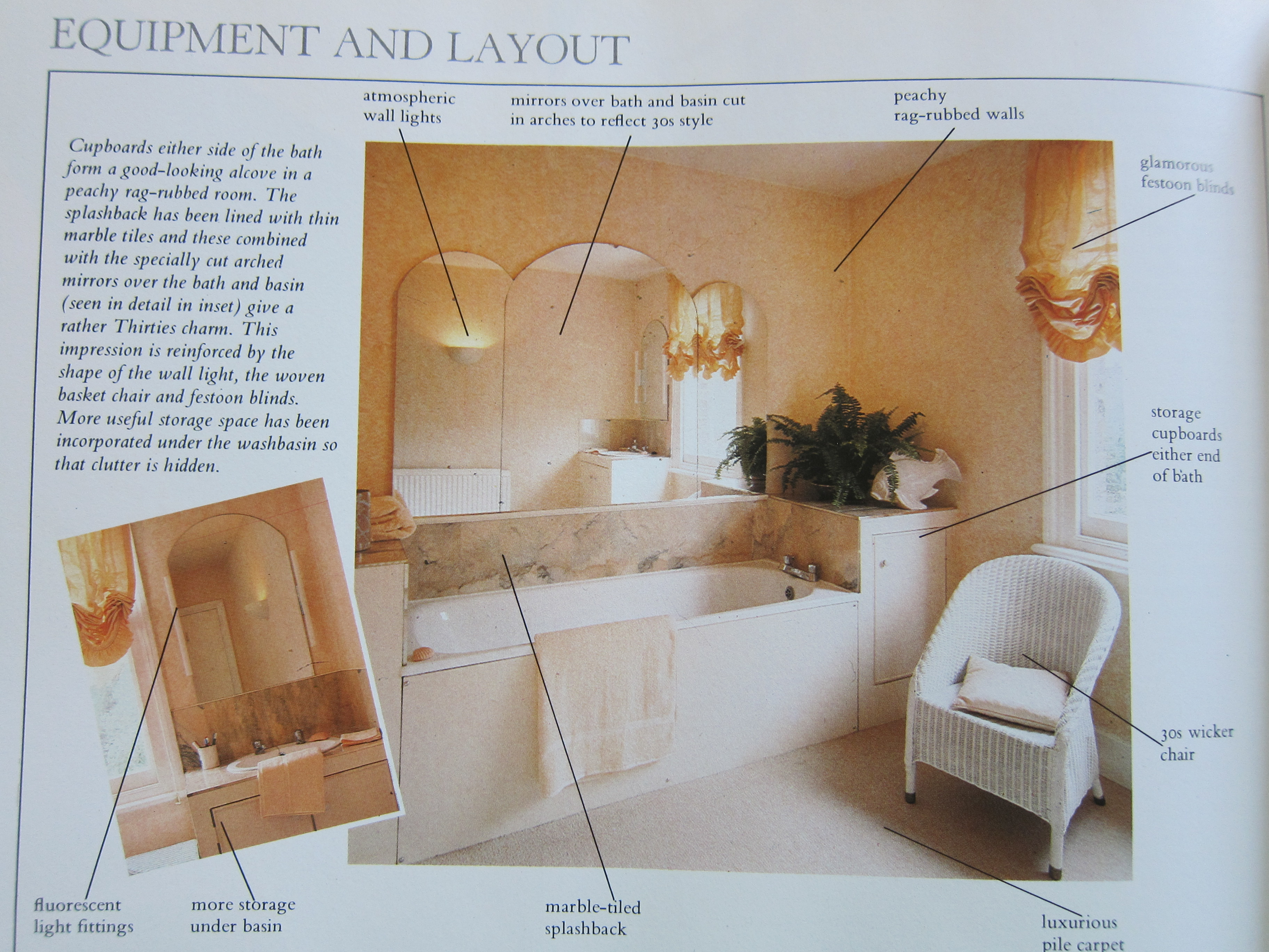 1930s Inspired Bathroom from the 1980s