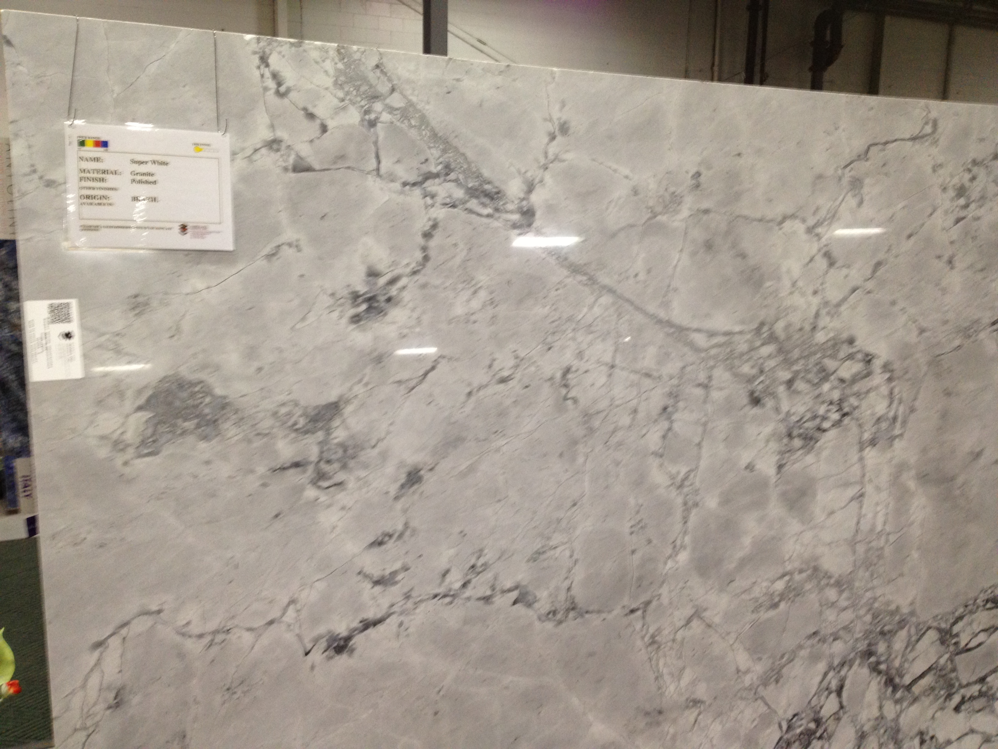 Super White Granite Slab
