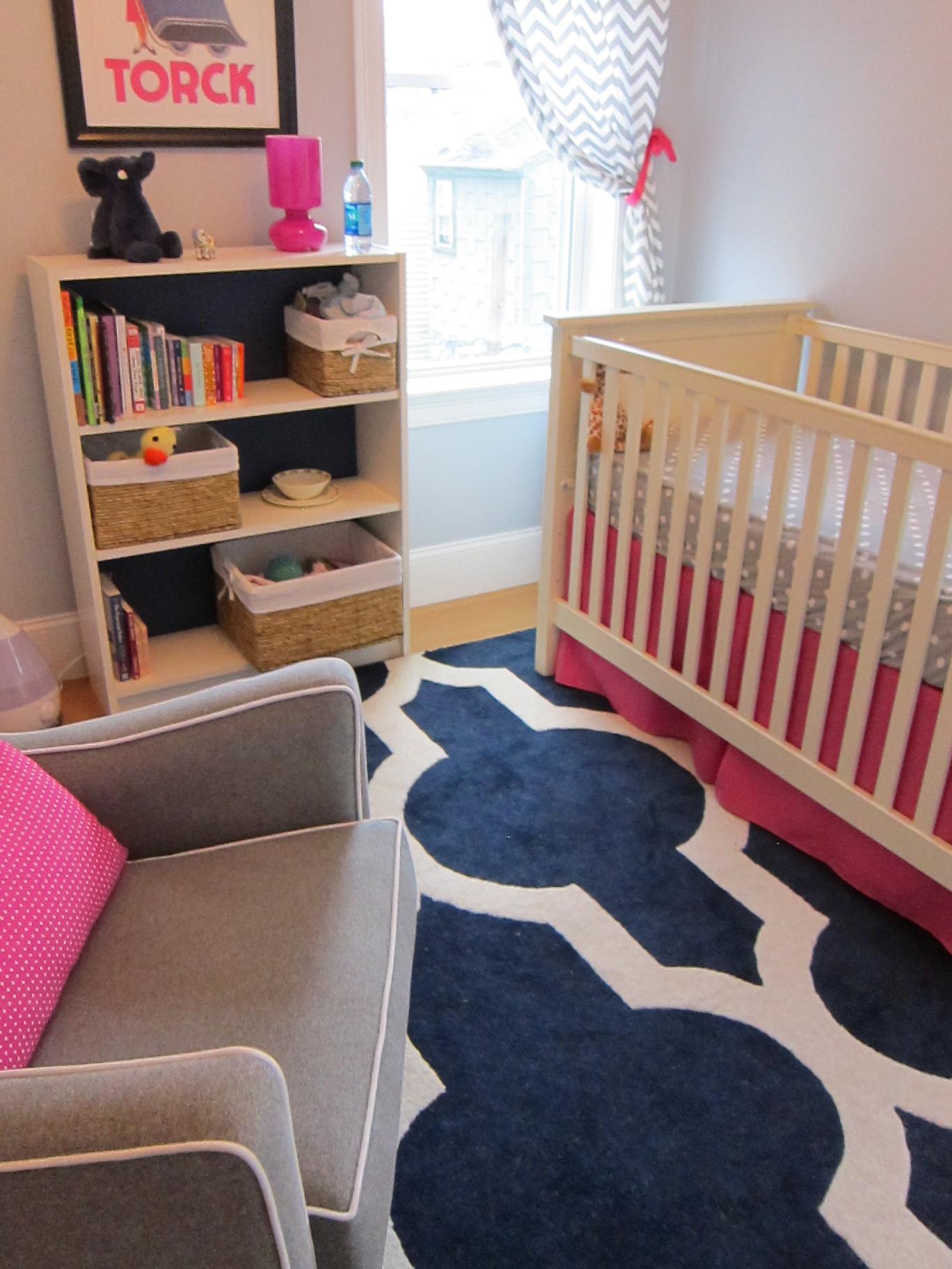 Medallion Rug in Geometric Baby Girl Nursery