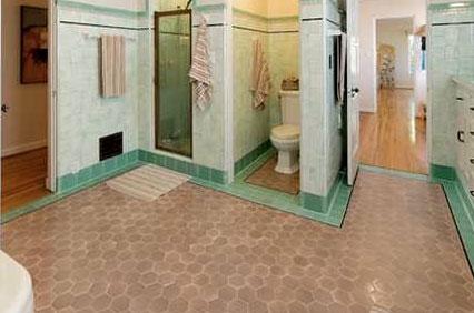 Pink Beige Tile Floors