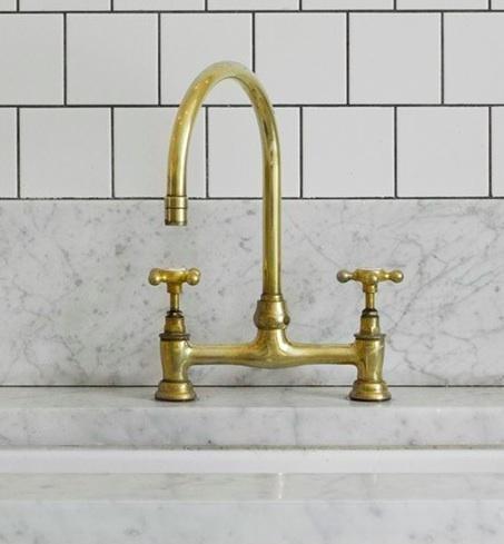 Brass Faucet on Carrara