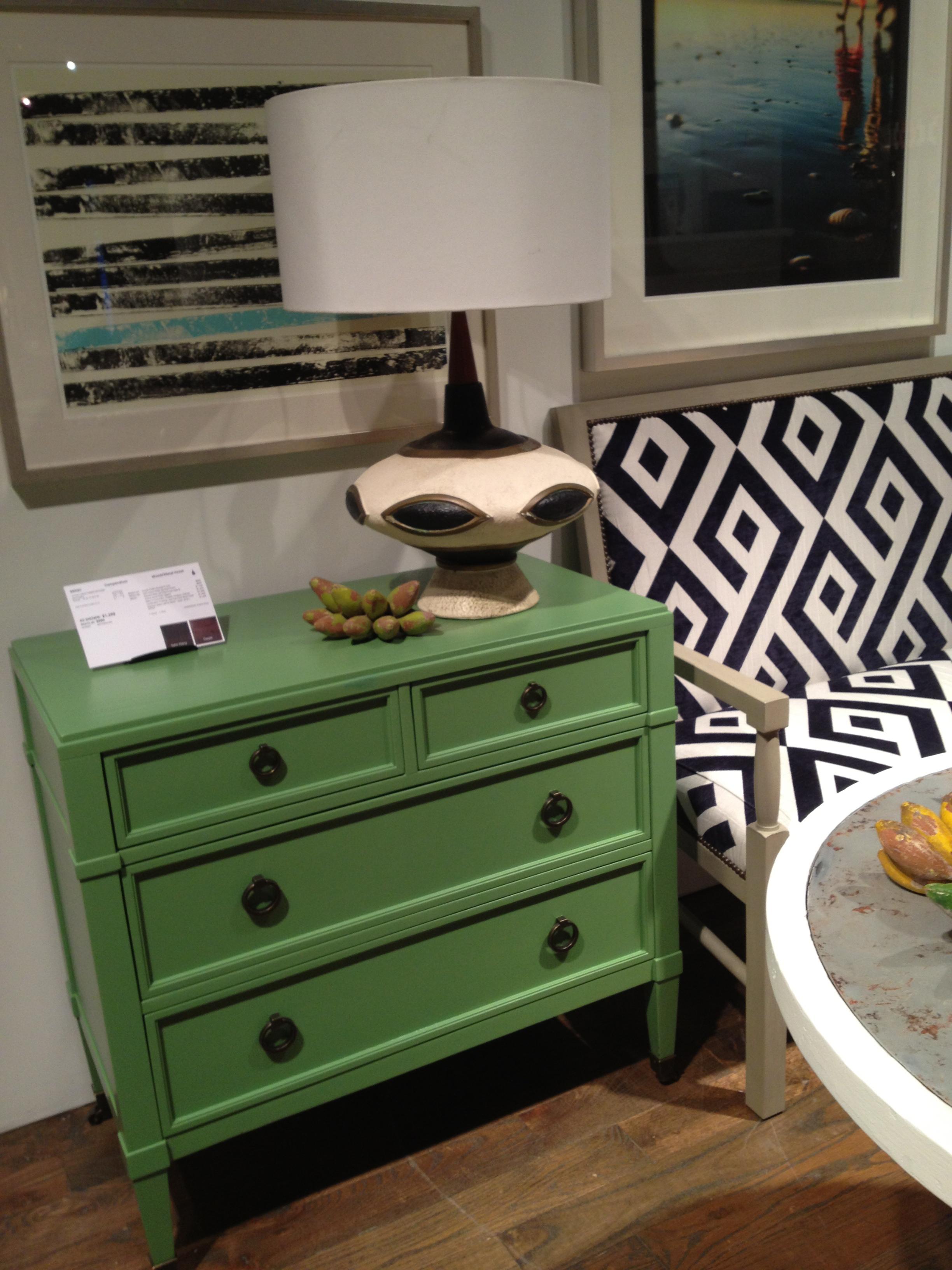 Green Chest at Vanguard Furniture Spring 2013 #hpmkt