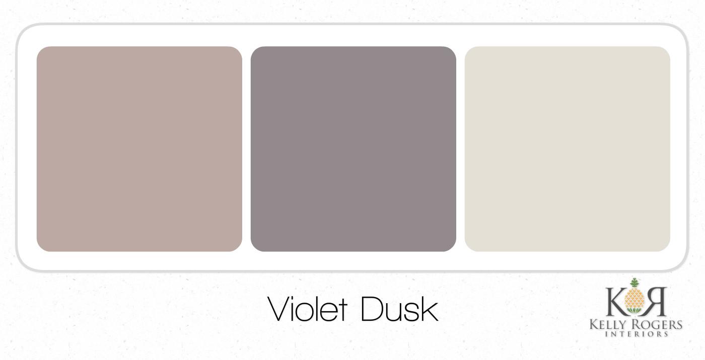 Violet Dusk soothing bedroom color scheme | Kelly Rogers Interiors