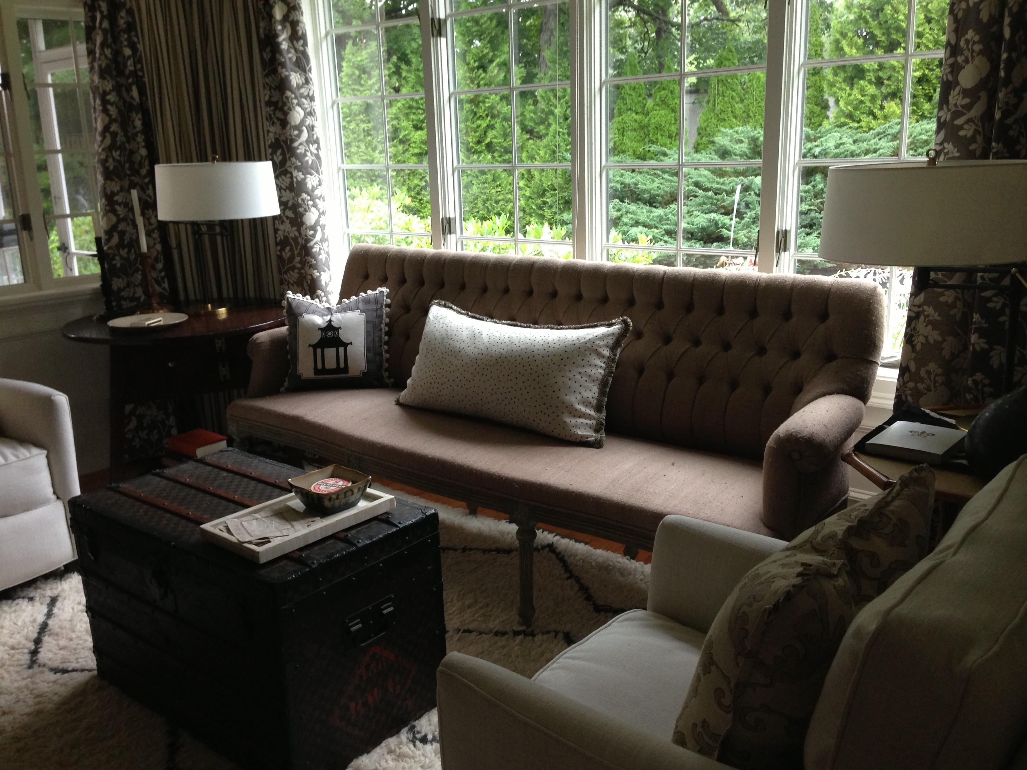 Secret Cove Show House 2013 - Sitting Room. Designer: Meredith Bohn