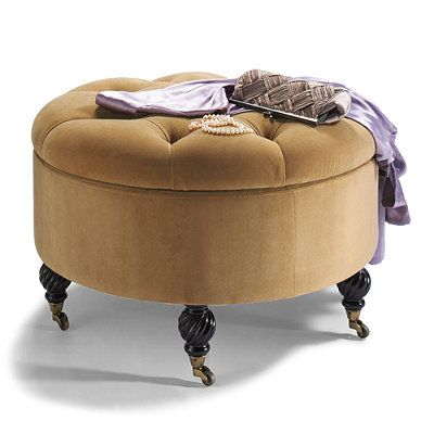 Collette Tufted Storage Ottoman - 10 High-Style Storage Ottomans | Interiors For Families