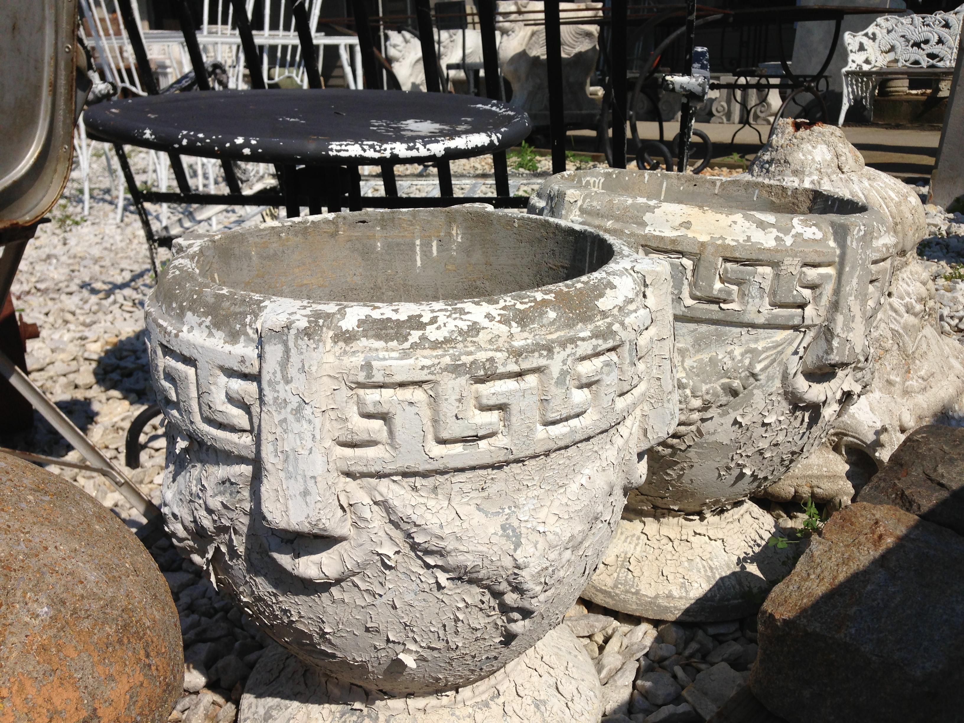 Greek Key Urn - Berkshire Home & Antiques