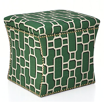 Geometric Storage Ottoman - 10 High-Style Storage Ottomans | Interiors For Families