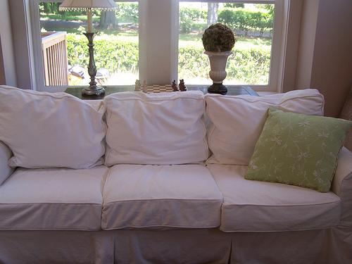 PB Basic Slipcovered Sofa - via The Inspired Room
