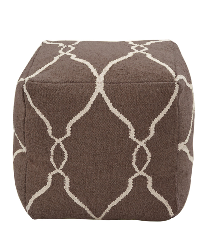 #6: Dhurrie Rug Pouf - Surya | 10 Great Accessories for Floor and Tabletop | Interiors For Families