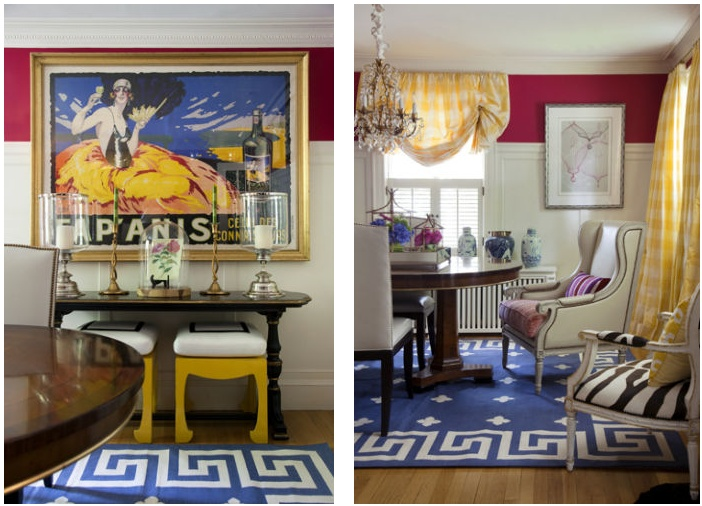Liz Caan's Dining Room   via Interiors For Families