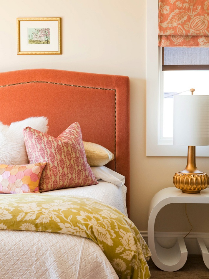 Harmonious Bedroom in Warm Tones w/ Light Beige Paint - via Interiors For Families