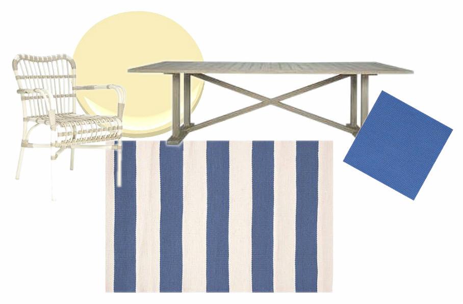 Deck Scheme with Catamaran Stripe Rug (Dash & Albert) | via Interiors For Families