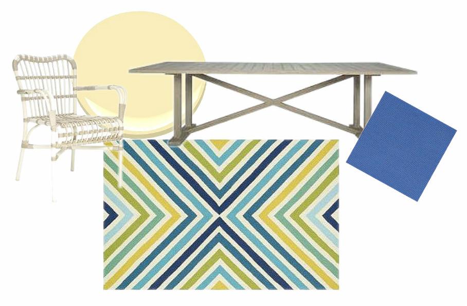 Deck Scheme with Palm Springs Rug (Dann Foley) | via Interiors For Families
