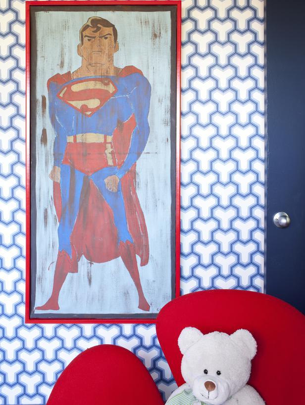 Brian Patrick Flynn's Big, Bold Art | via Interiors For Families