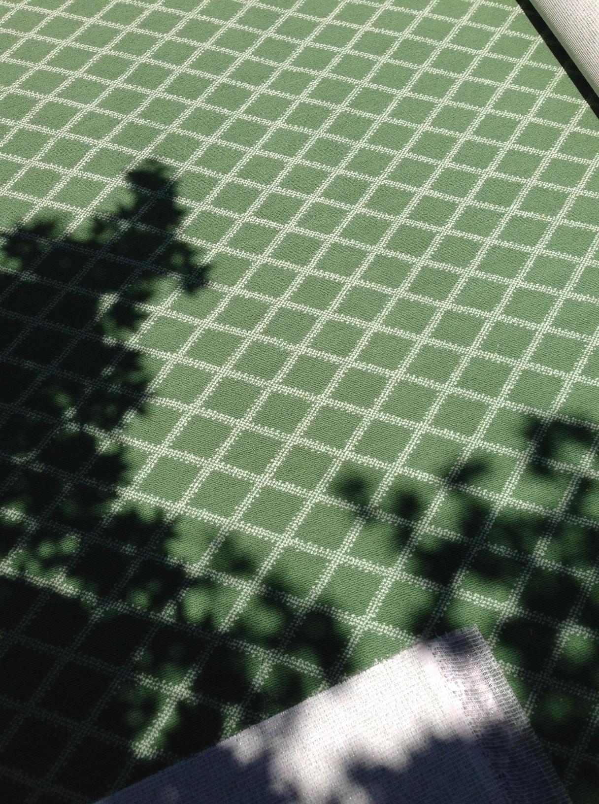 Green Trellis Carpet | via Interiors for Families