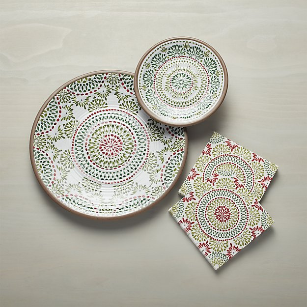 Crate & Barrel Caprice Holiday Melamine Collection | Friday Family-Friendly Find | Interiors for Families