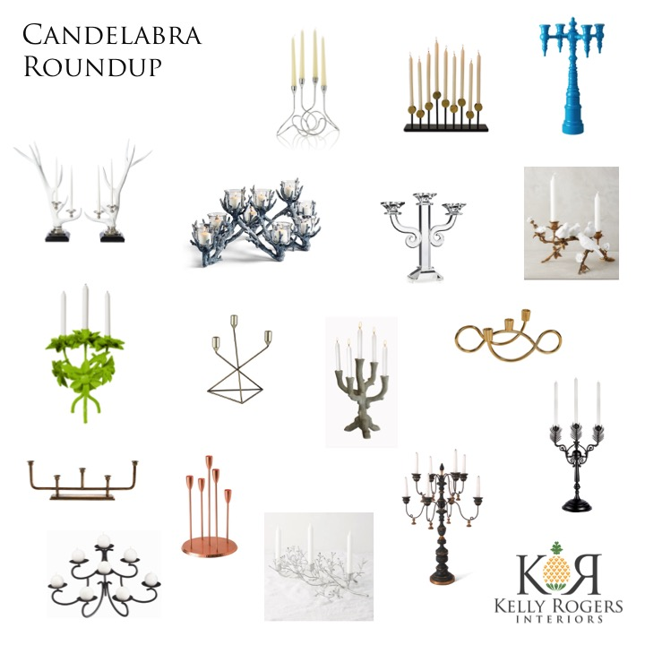 Candelabra Roundup | Kelly Rogers Interiors | Interiors for Families