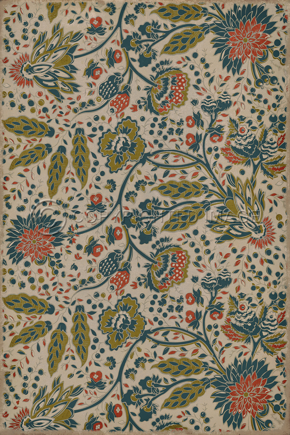 Friday Family-Friendly Find: Williamsburg Vintage Floorcloths | Interiors for Families