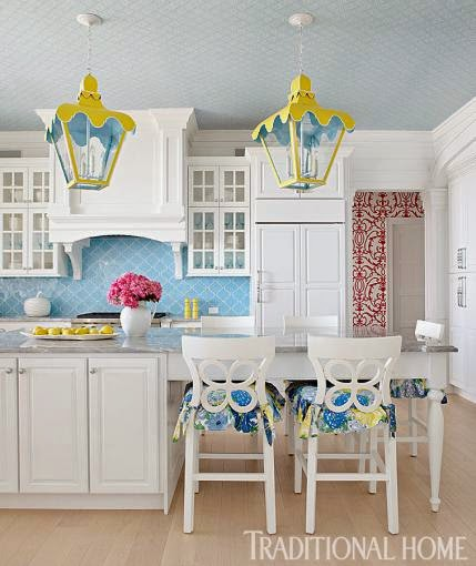 11 Ways with a Wallpapered Ceiling | Interiors for Families