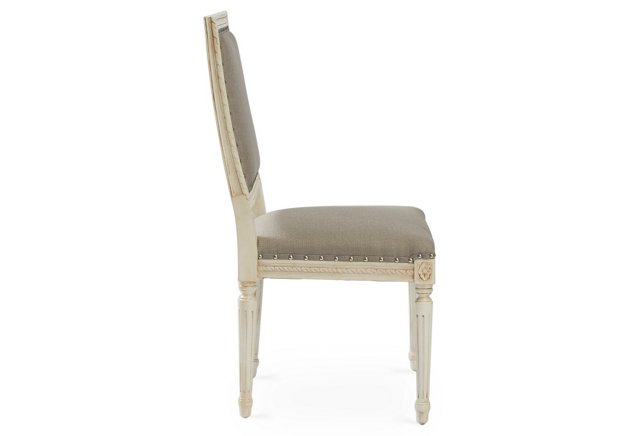 Friday Family-Friendly Find: OKL Exeter Side Chair in Smoke Crypton   Interiors for Families
