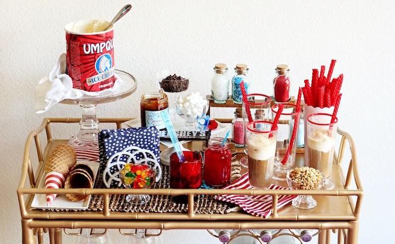 Booze-Free Bar Cart Ideas   Interiors for Families