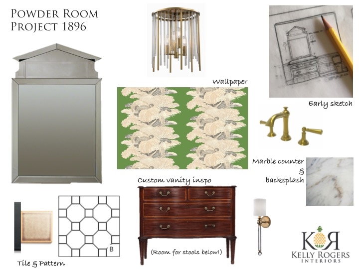 Day 133: Project 1896 (Our Home Renovation) - Special Powder Room Edition   Kelly Rogers Interiors   Interiors for Families