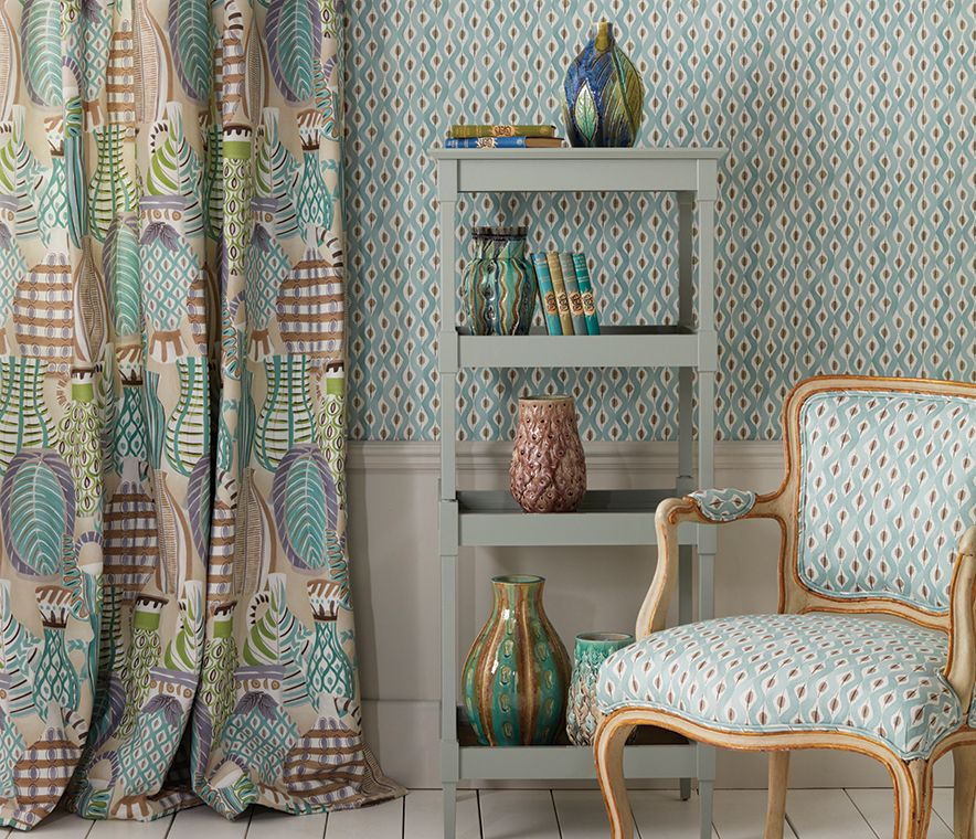 Trending: Colorful, Patternful Scandinavian Modern-Inspired Textiles | Kelly Rogers Interiors | Interiors for Families
