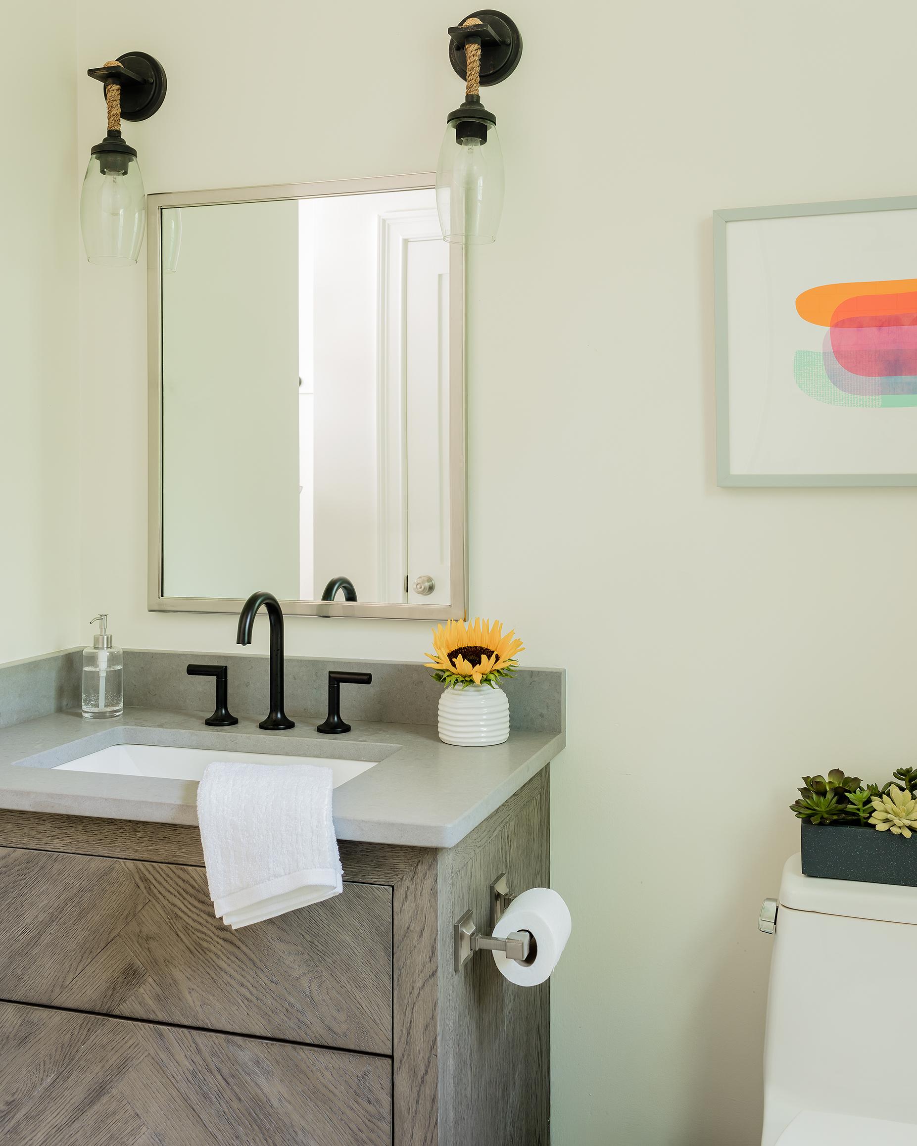 Concrete-Look Quartz Countertop | Kelly Rogers Interiors