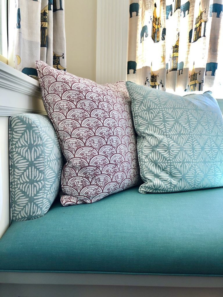 Friday Family-Friendly Find: Stout Cardinal Linen-Textured Vinyl Fabric | Interiors for Families | Blog of Kelly Rogers Interiors